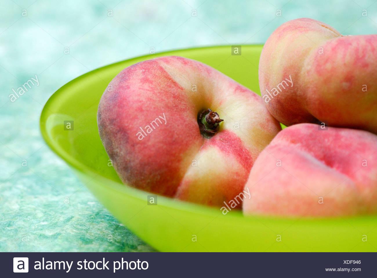 Piatto cinese Peach Immagini Stock