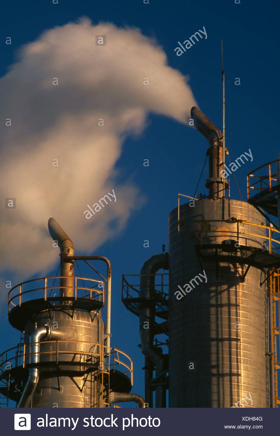 Le emissioni di biossido di carbonio Immagini Stock