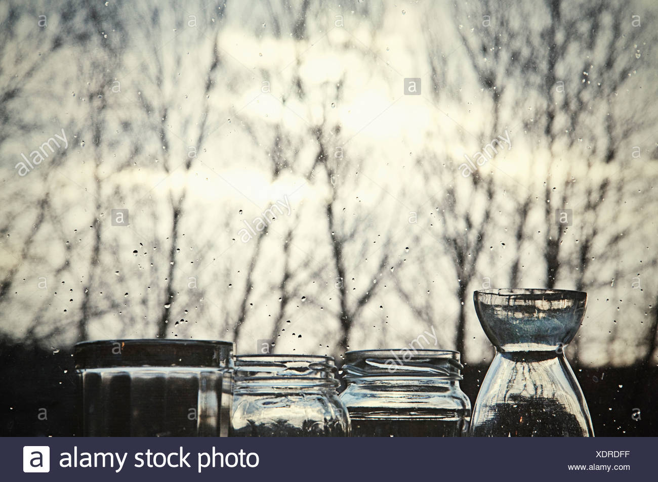 Gli oggetti esterni in Alba Immagini Stock