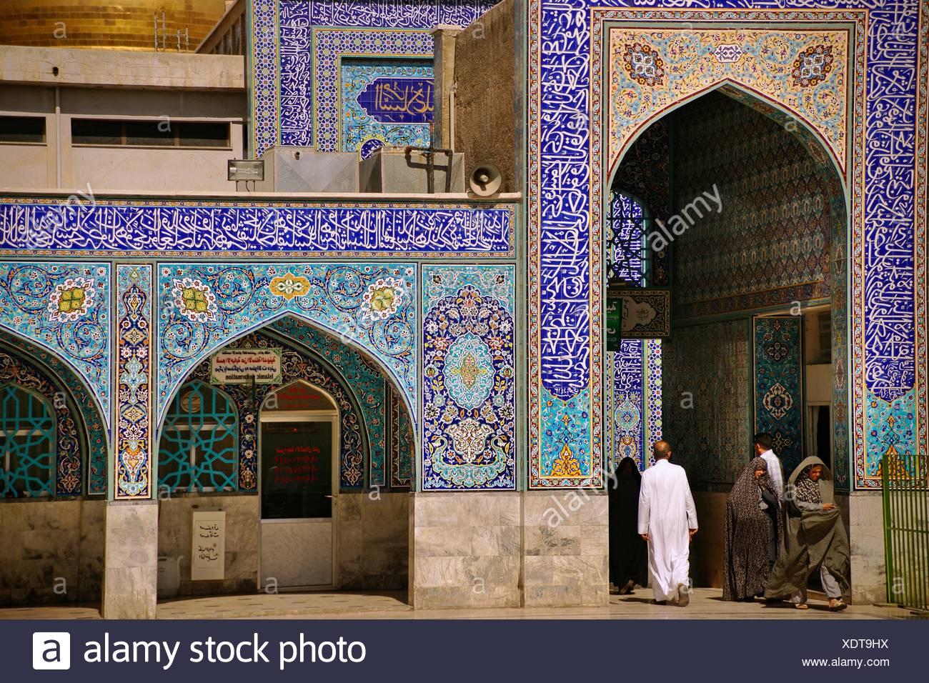 Zellige piastrelle ceramiche decorazioni sulle pareti della moschea