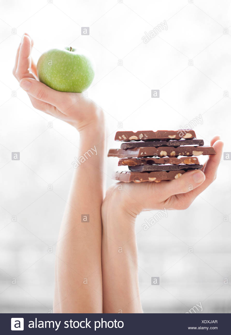 Dieta bilanciata, immagine concettuale Immagini Stock