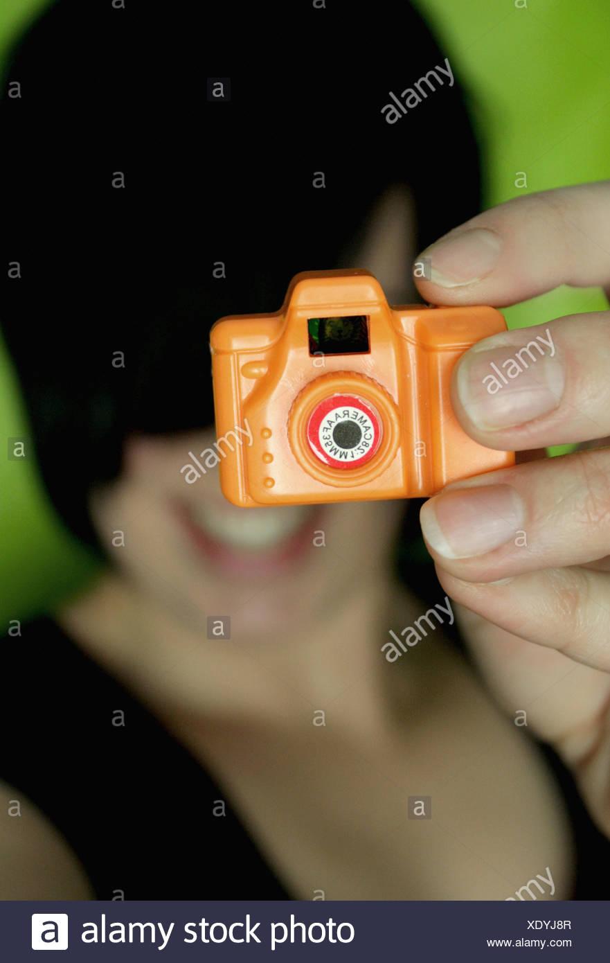 Fotografia,fotocamera giocattolo,foto fotocamera Immagini Stock