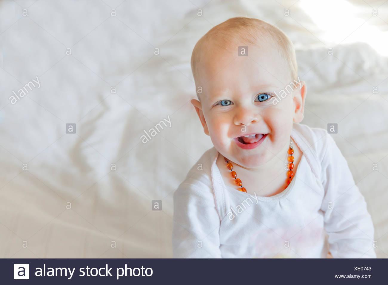 Ritratto di un bambino sorridente Immagini Stock