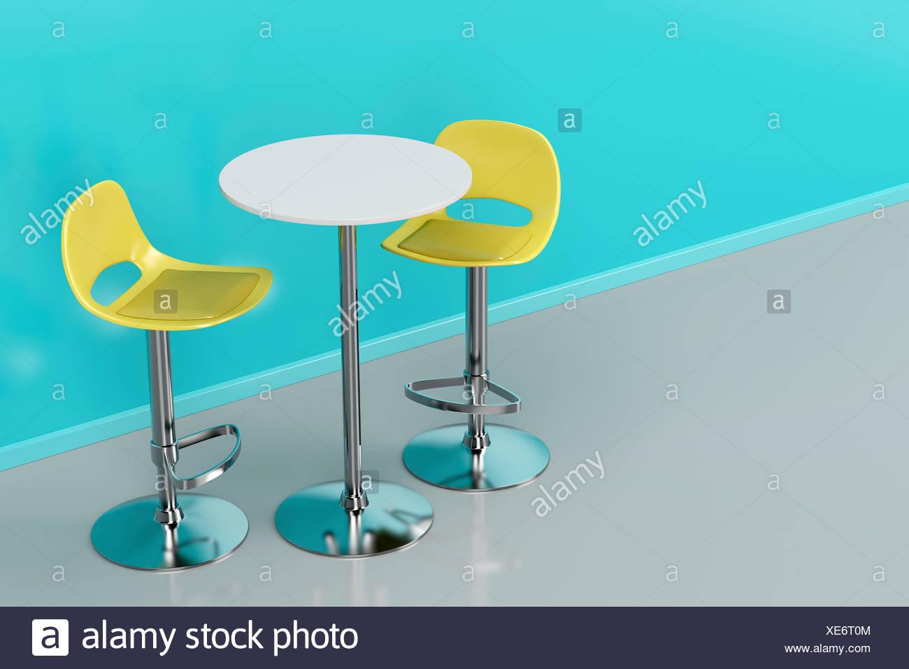 Tavolo bar e sgabelli foto immagine stock alamy