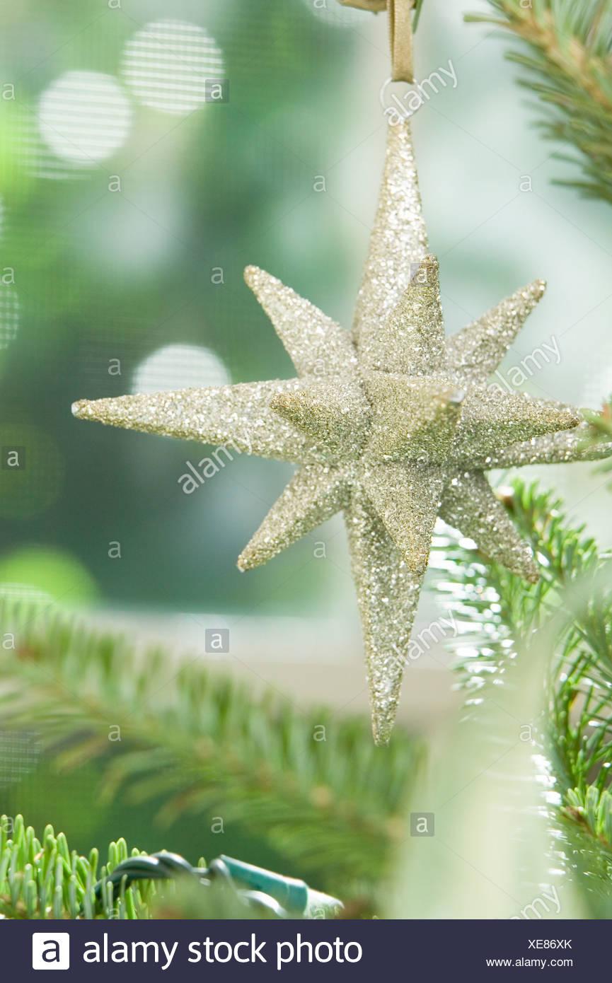 Star ornamento di Natale Immagini Stock