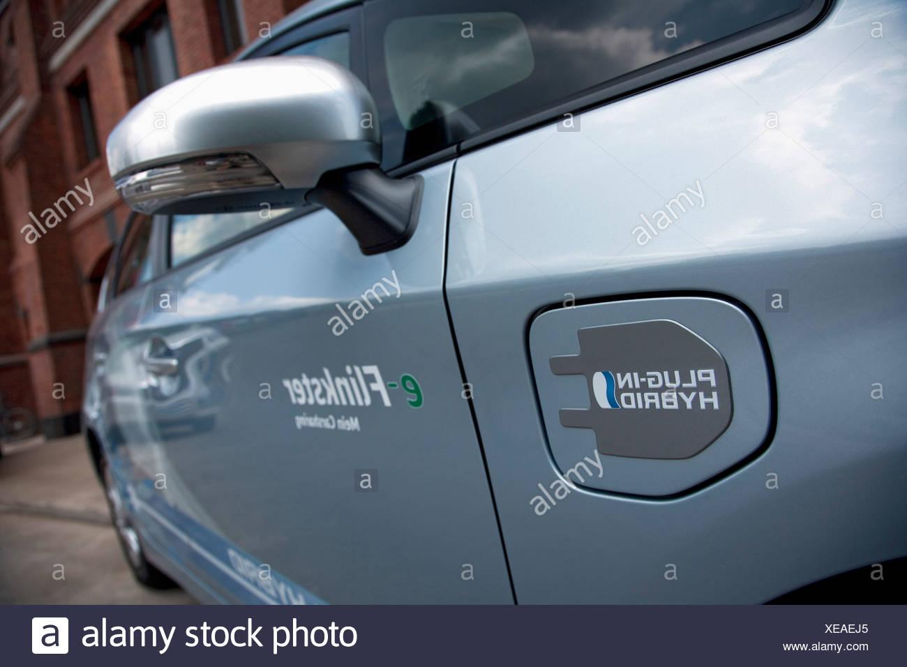 La Toyota Prius Plug-in tecnologia ibrida Immagini Stock