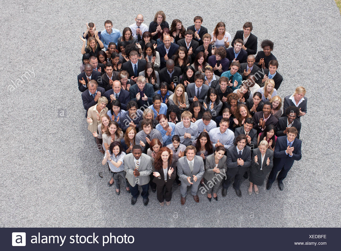 Un folto gruppo di persone di affari Immagini Stock