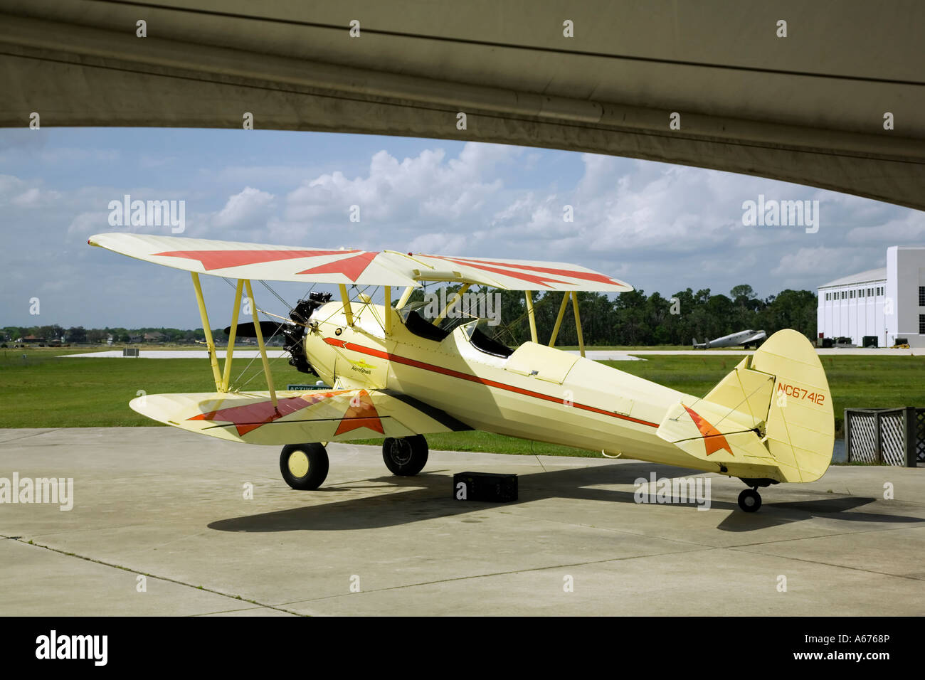 A Boeing PT17 Stearman of the american barnstormers Stock Photo