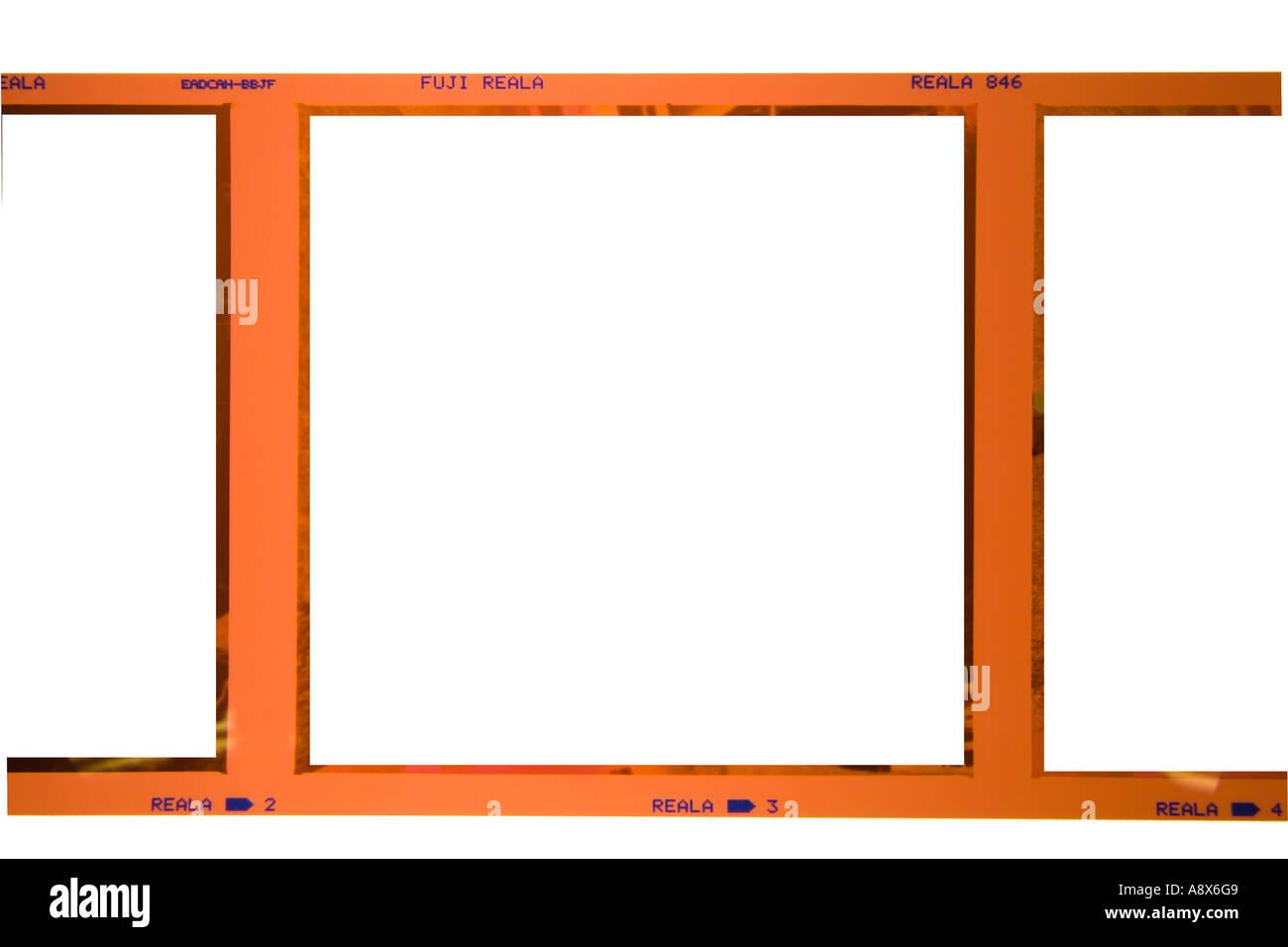 Formato quadrado cor filme com imagem removida Imagens de Stock