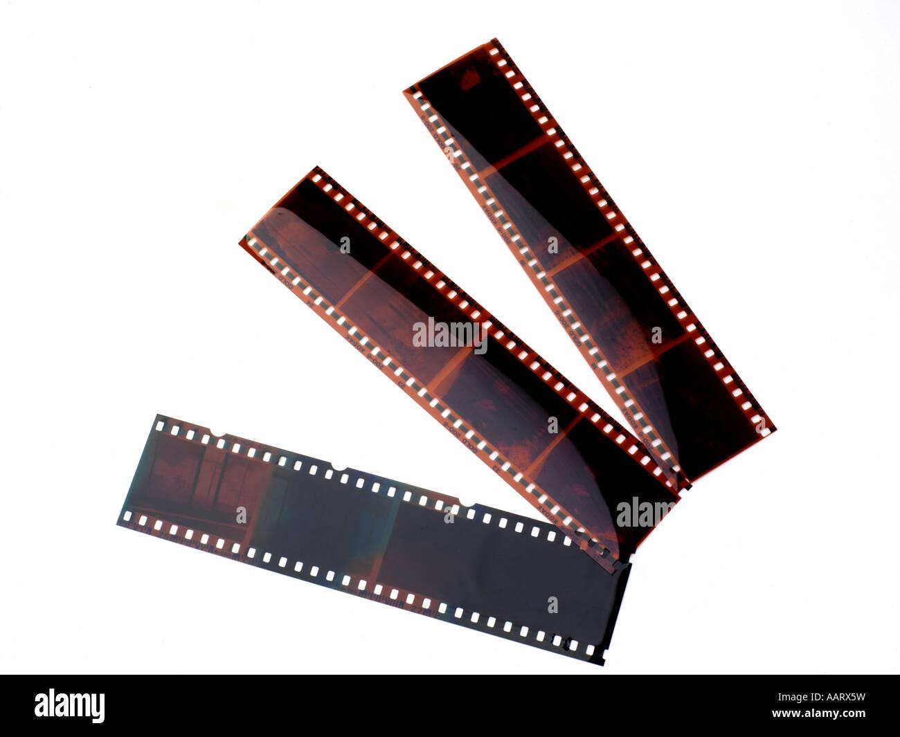 Negativos de película Imagens de Stock