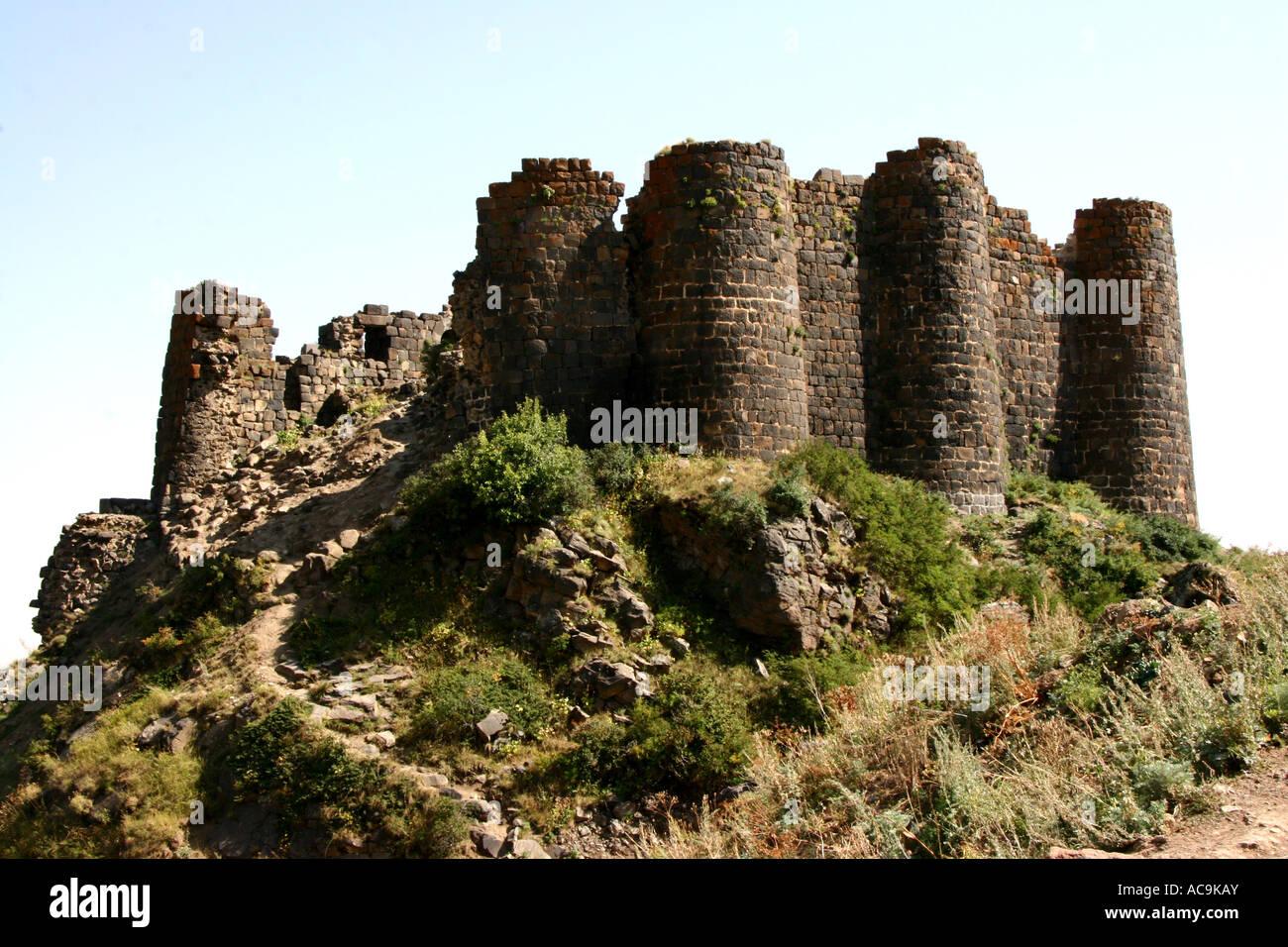 Amberd Fortaleza, Arménia Imagens de Stock