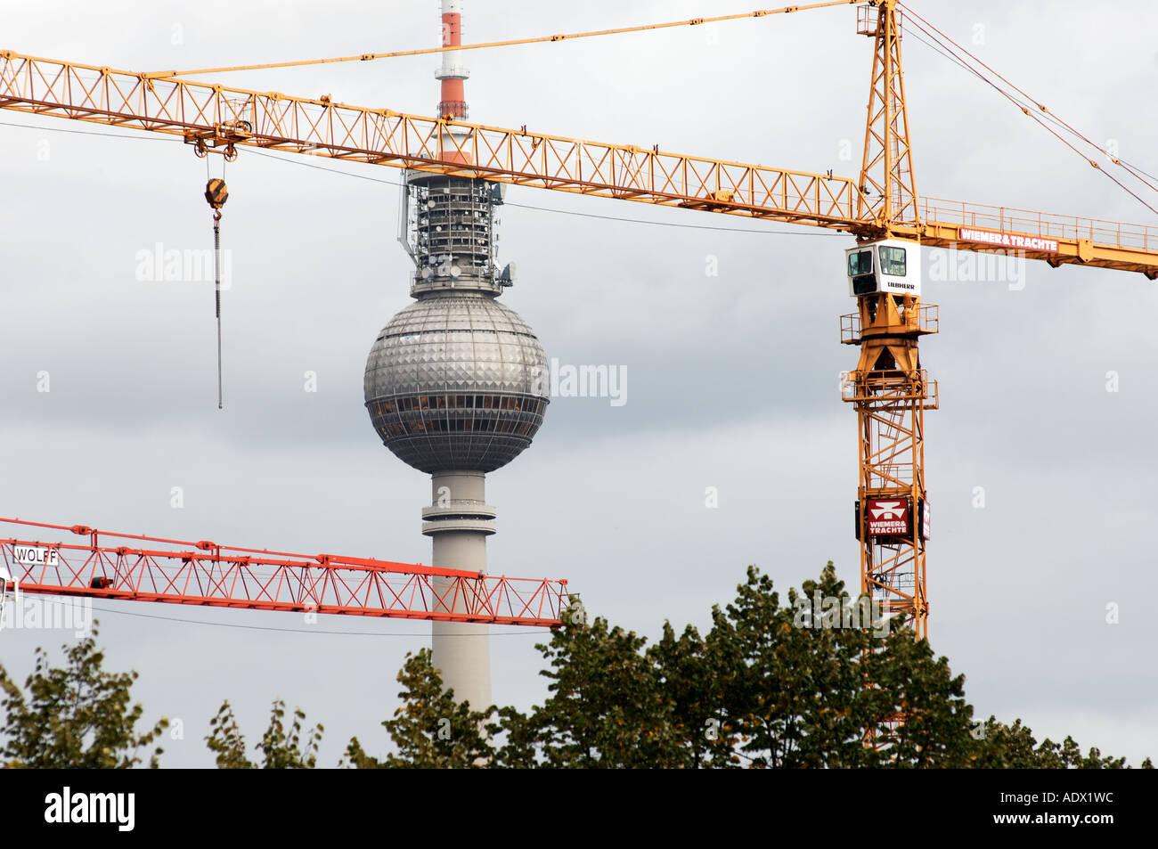 Torre de televisão de Berlim Imagens de Stock