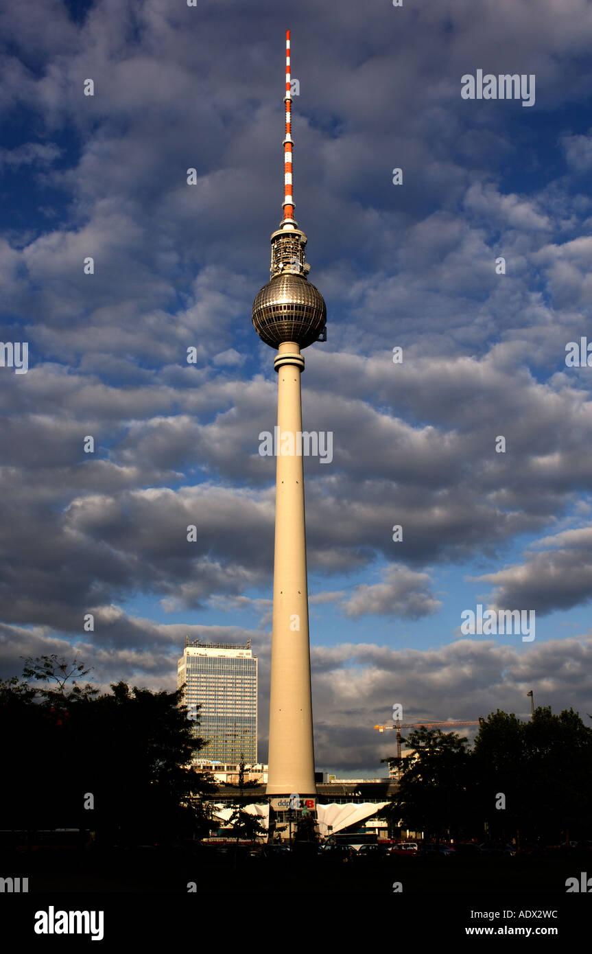 Berlin Fernseh turm Imagens de Stock