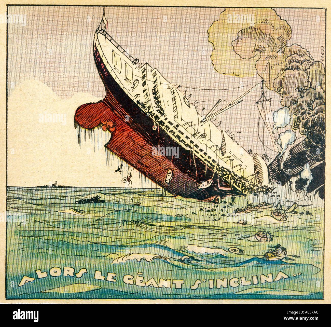 Naufrágio do Titanic Imagens de Stock