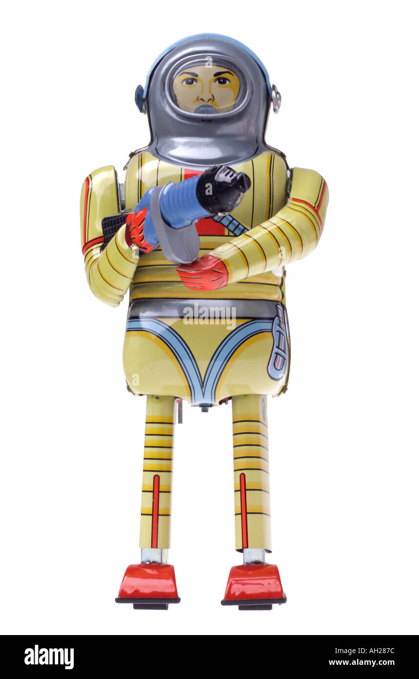 Retro collectible brinquedo do robô Imagens de Stock