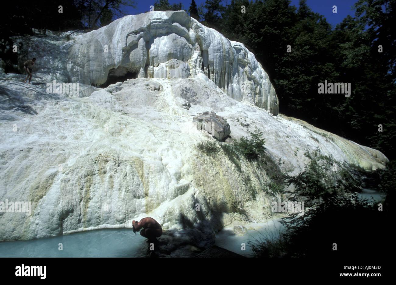Águas Termais Fosso Bianco Bagni San Filippo Toscana Itália Foto ...