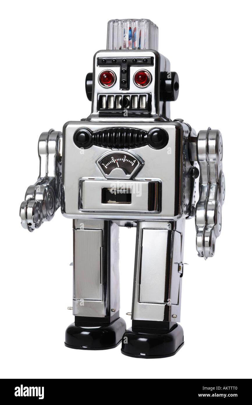 Retro Pé Robô Imagens de Stock