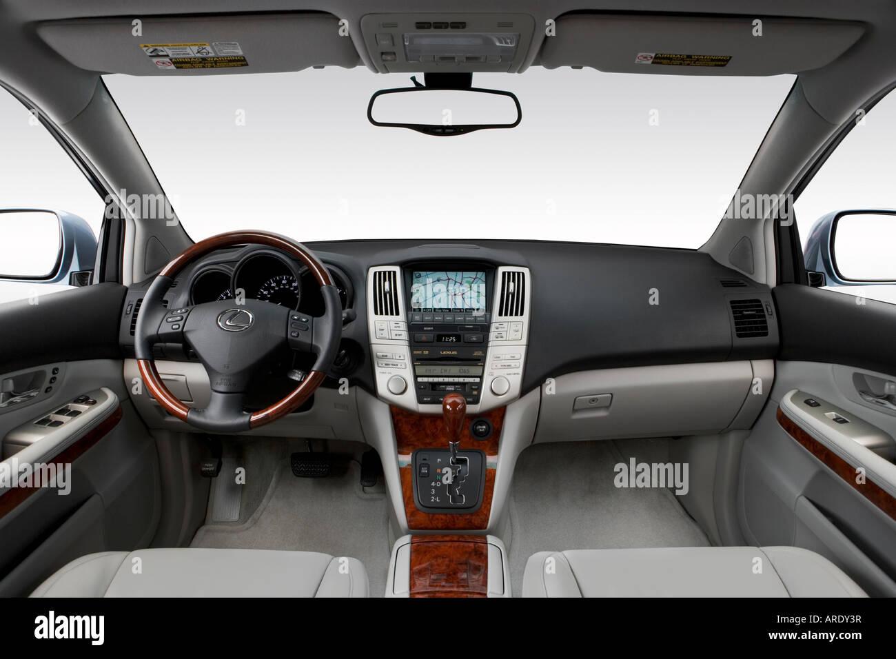 Nice 2007 Lexus RX 350 Em Azul   Painel De Bordo, Consola Central, Vista De  Mudança De Marchas