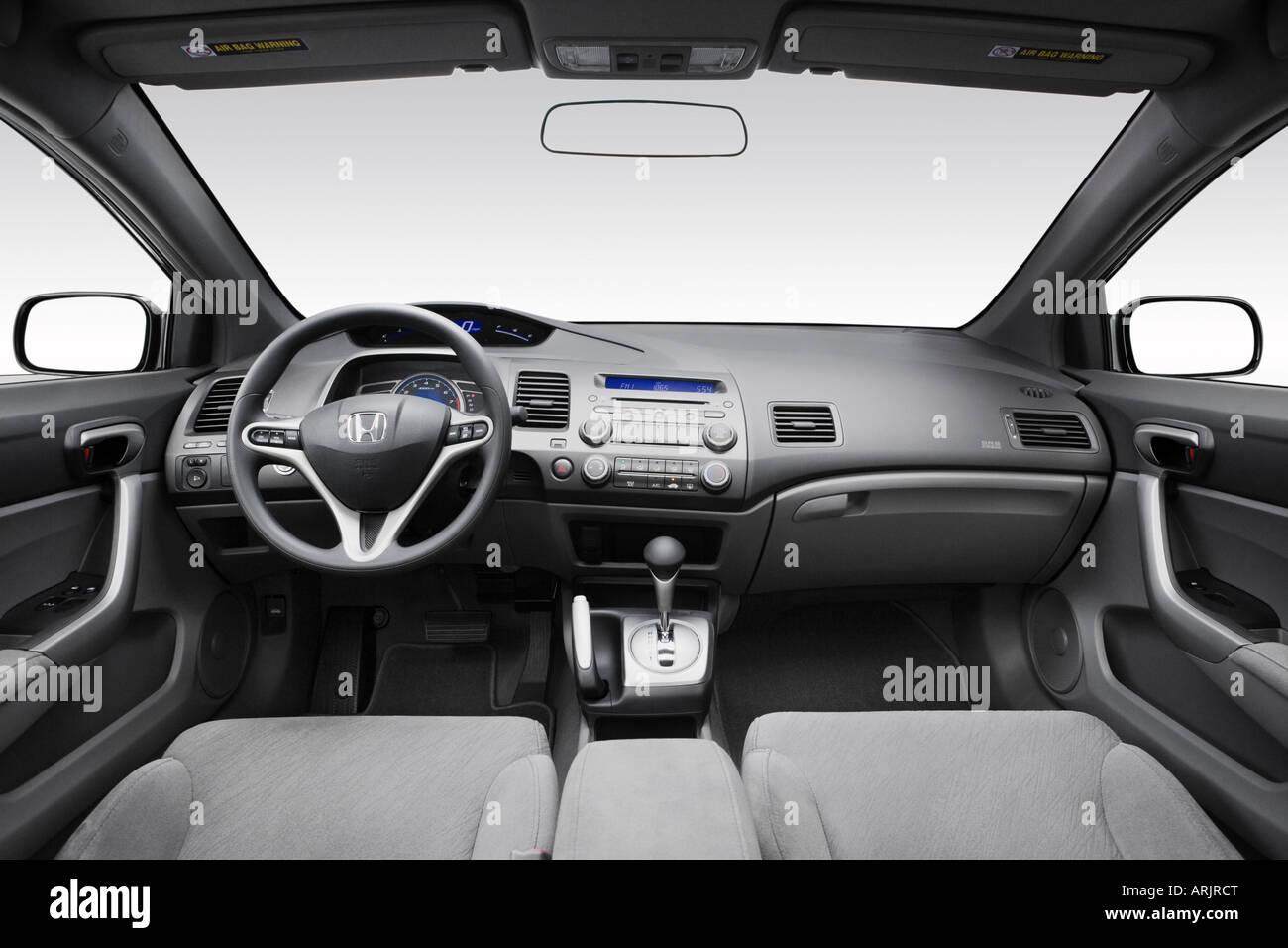 2008 Honda Civic EX Em Cinza   Painel De Bordo, Consola Central, Vista De  Mudança De Marchas