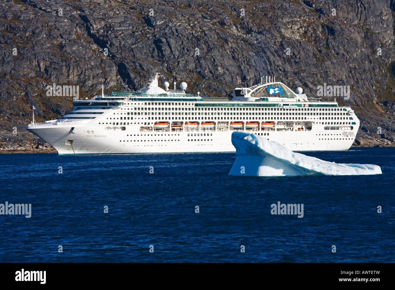 Sea Princess porto de cruzeiros de Nanortalik