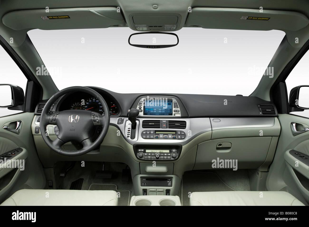 2008 Honda Odyssey EX L Em Cinza   Painel De Bordo, Consola Central, Vista  De Mudança De Marchas