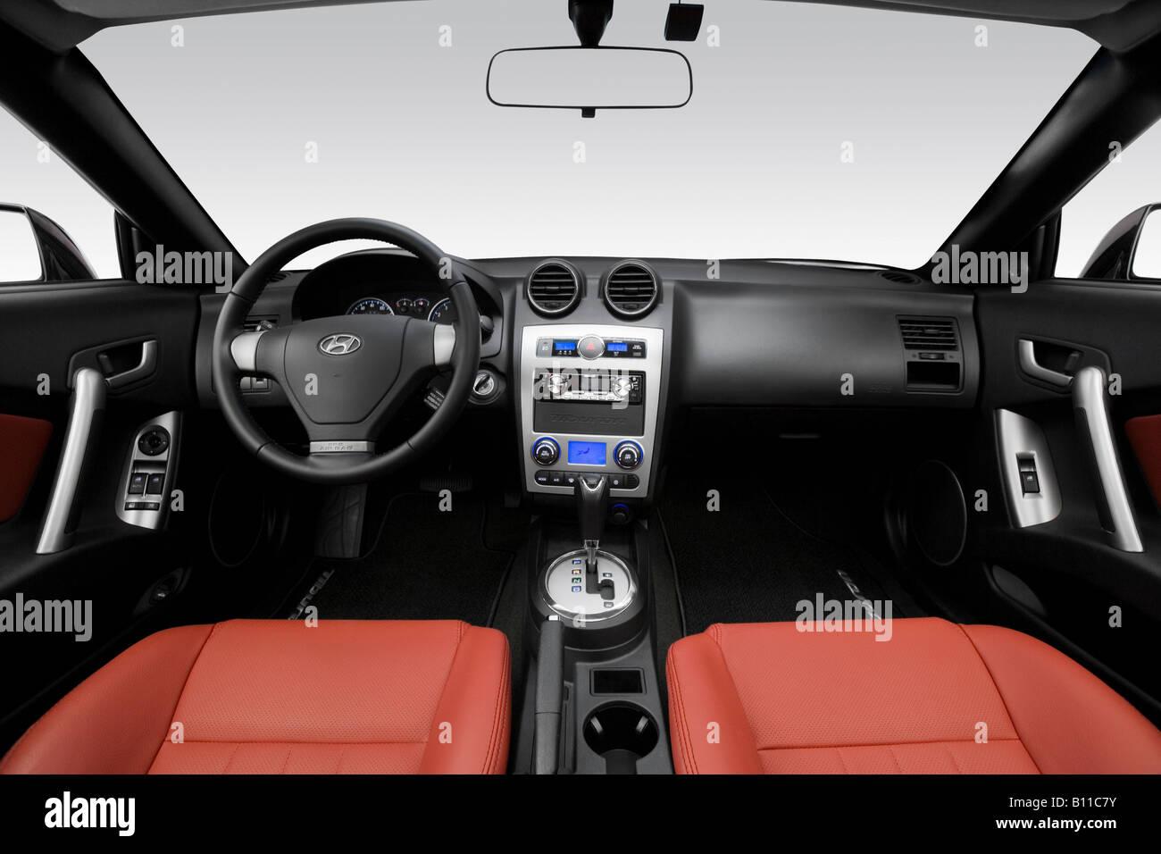 2008 Hyundai Tiburon GT Limitada Em Preto   Painel De Bordo, Consola  Central, Vista De Mudança De Marchas