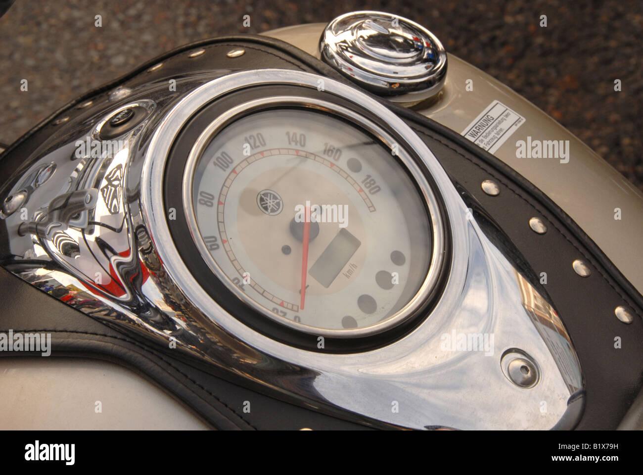 Motociclo de bordo Imagens de Stock