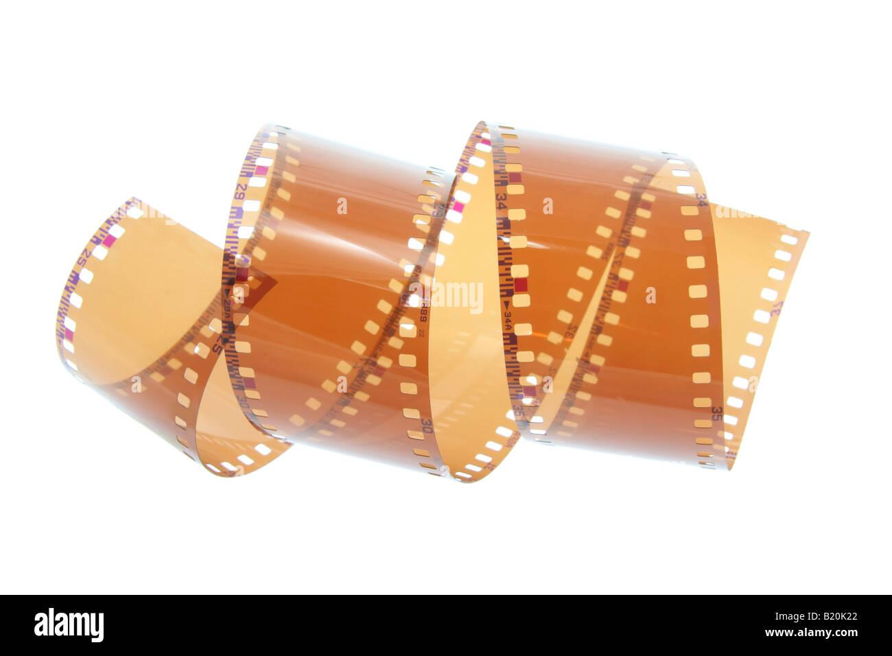 Negativos de películas a branco Imagens de Stock