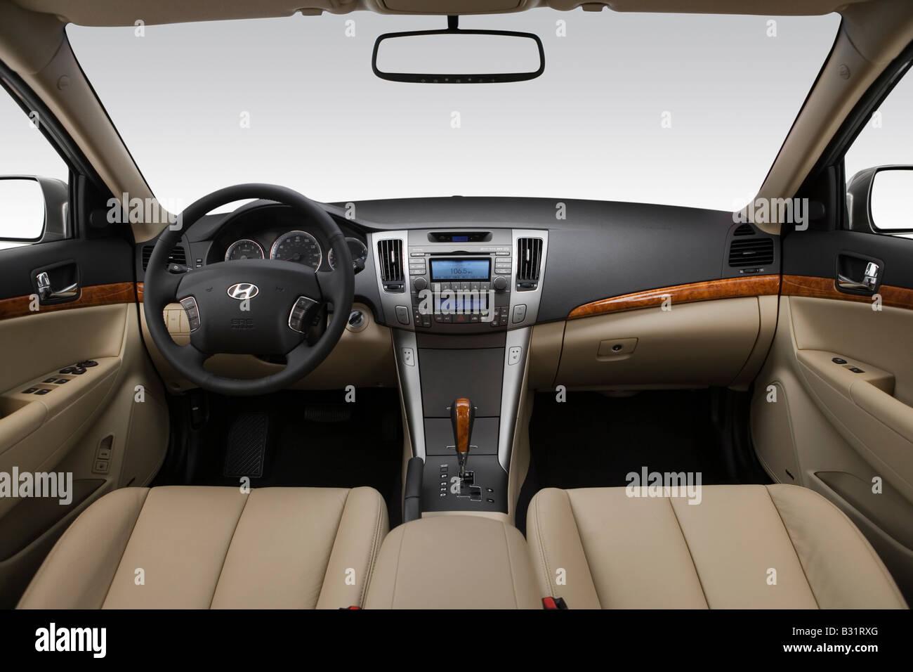 2009 Hyundai Sonata Limited V6 Em Bege   Painel De Bordo, Consola Central,  Vista De Mudança De Marchas