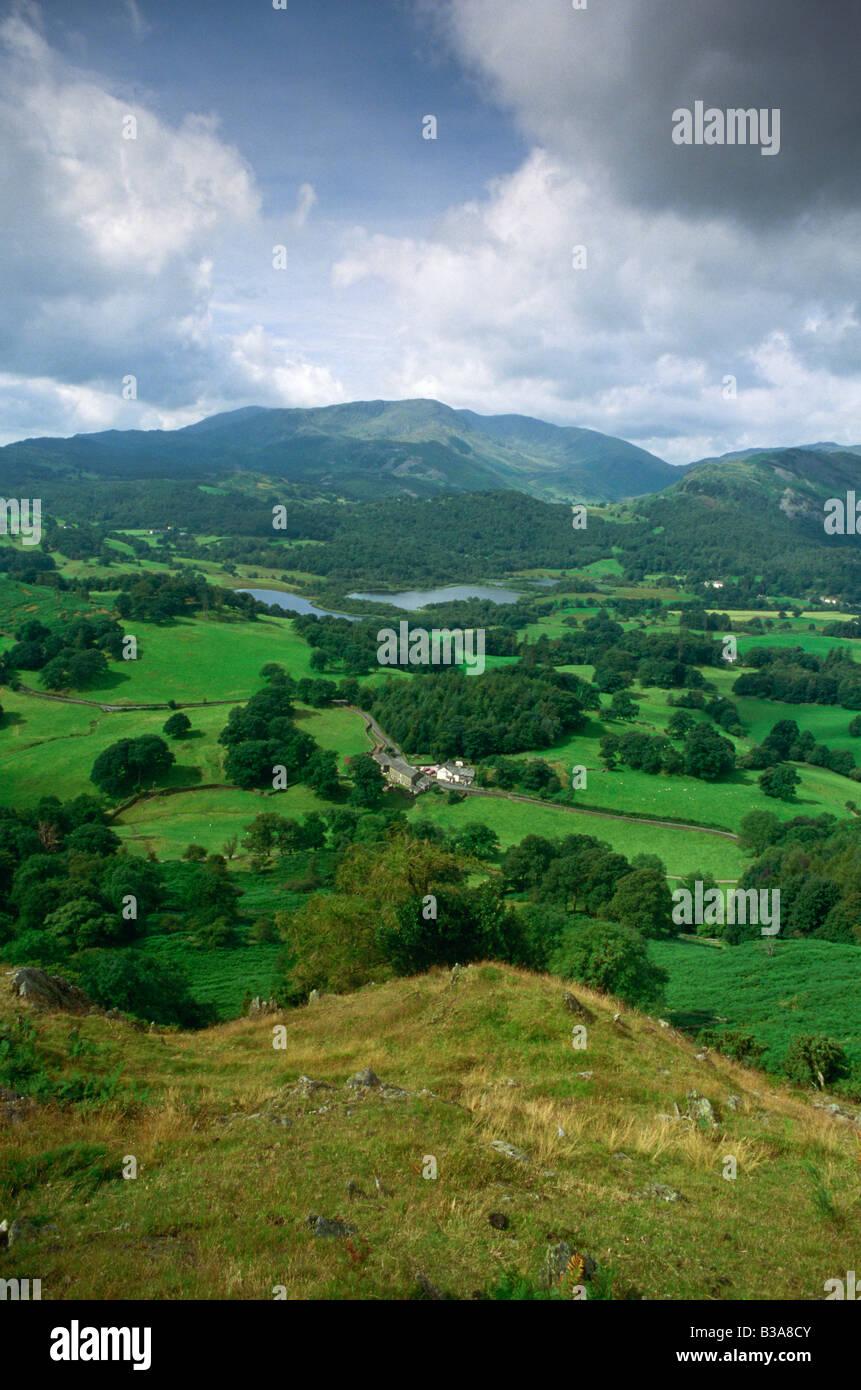 Elter Água, Cumbria (Lake District), Inglaterra, REINO UNIDO Imagens de Stock
