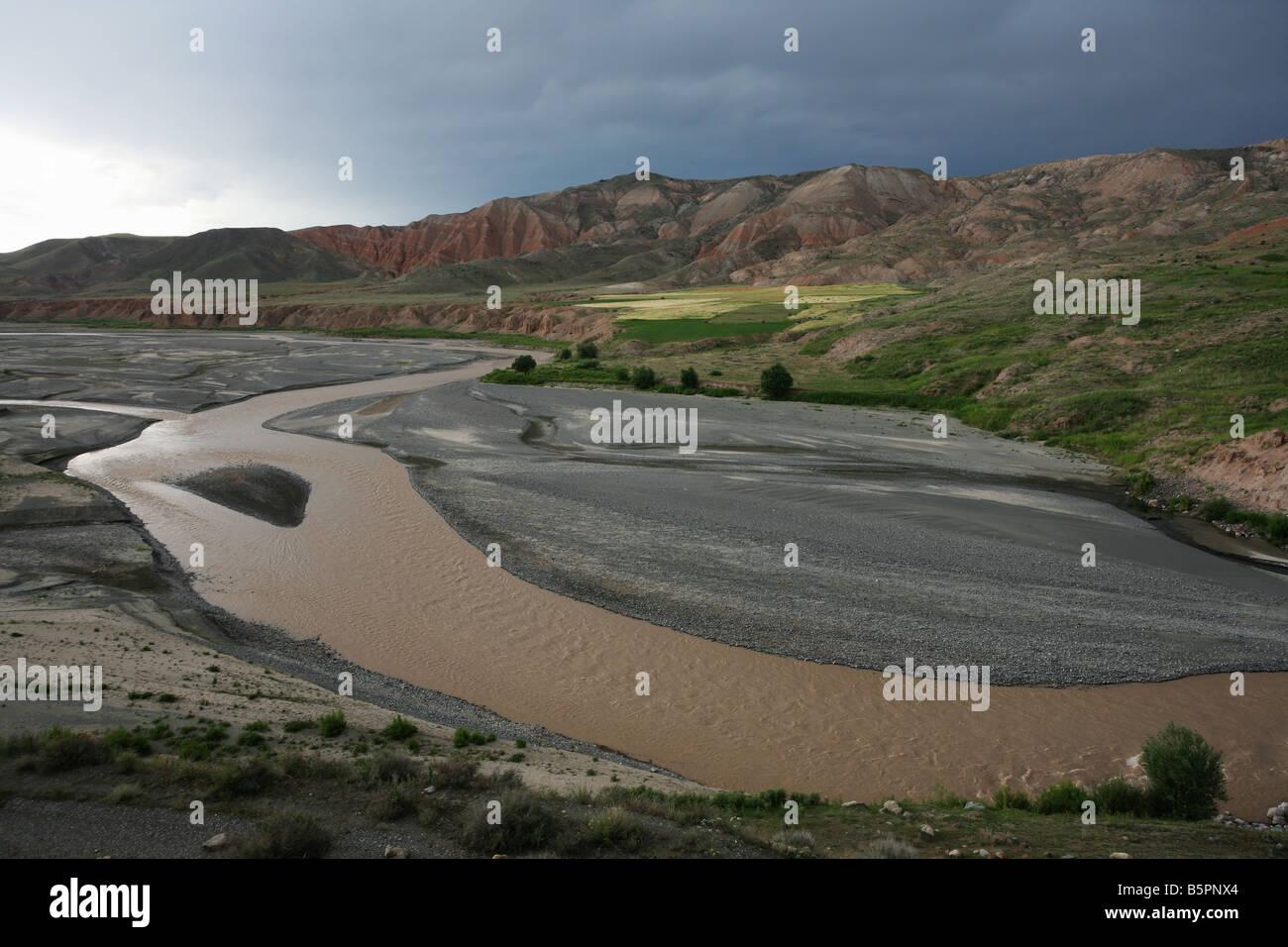 Província de Kars no leste da Turquia perto da fronteira com a Arménia Imagens de Stock
