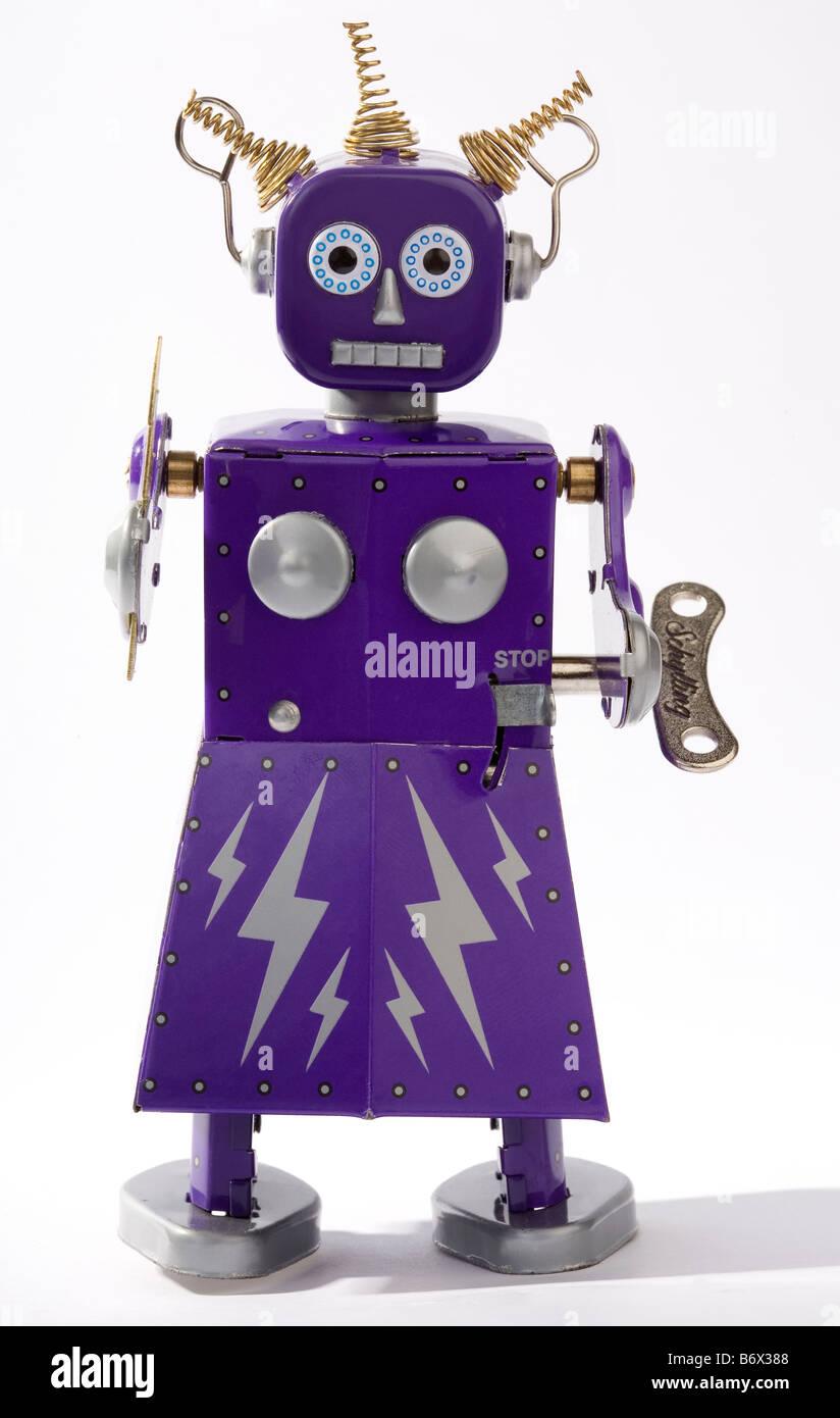 Um tradicional robô de brinquedo Imagens de Stock