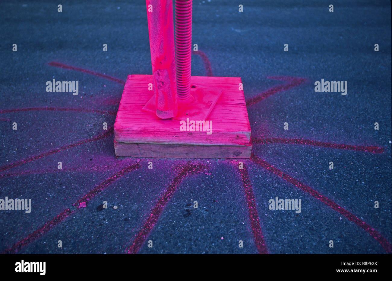 Rosa tinta fluorescente Imagens de Stock