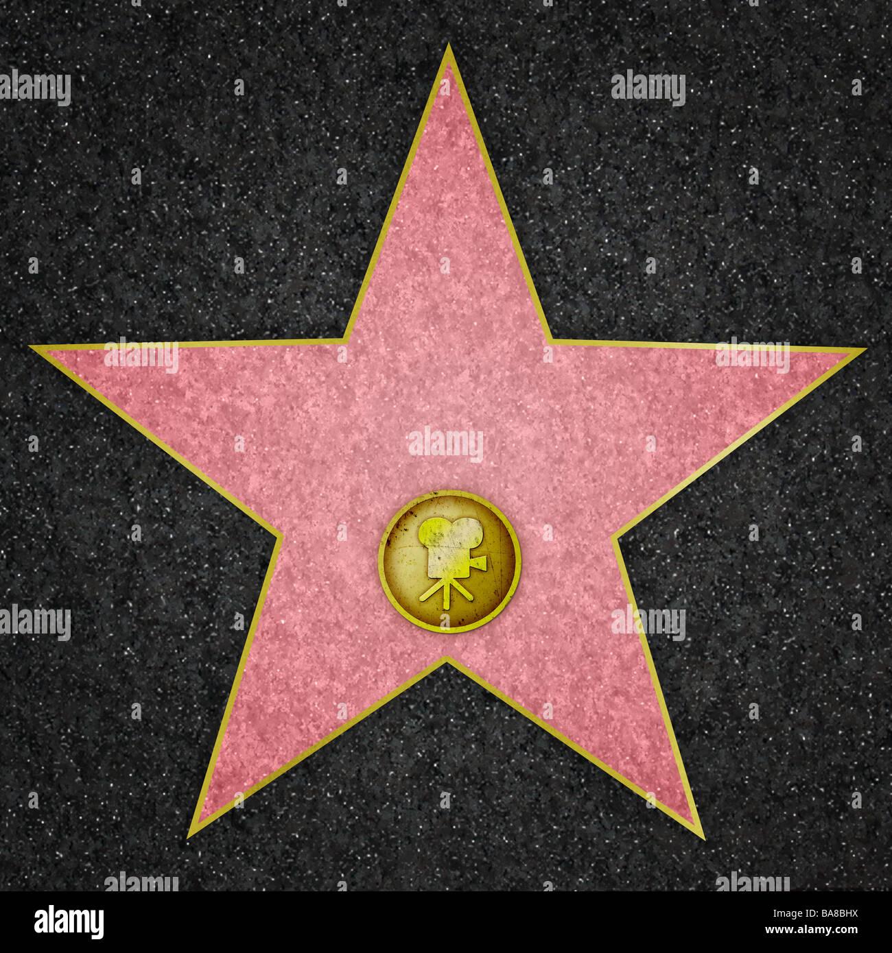 A estrela de Hollywood Filme Imagens de Stock