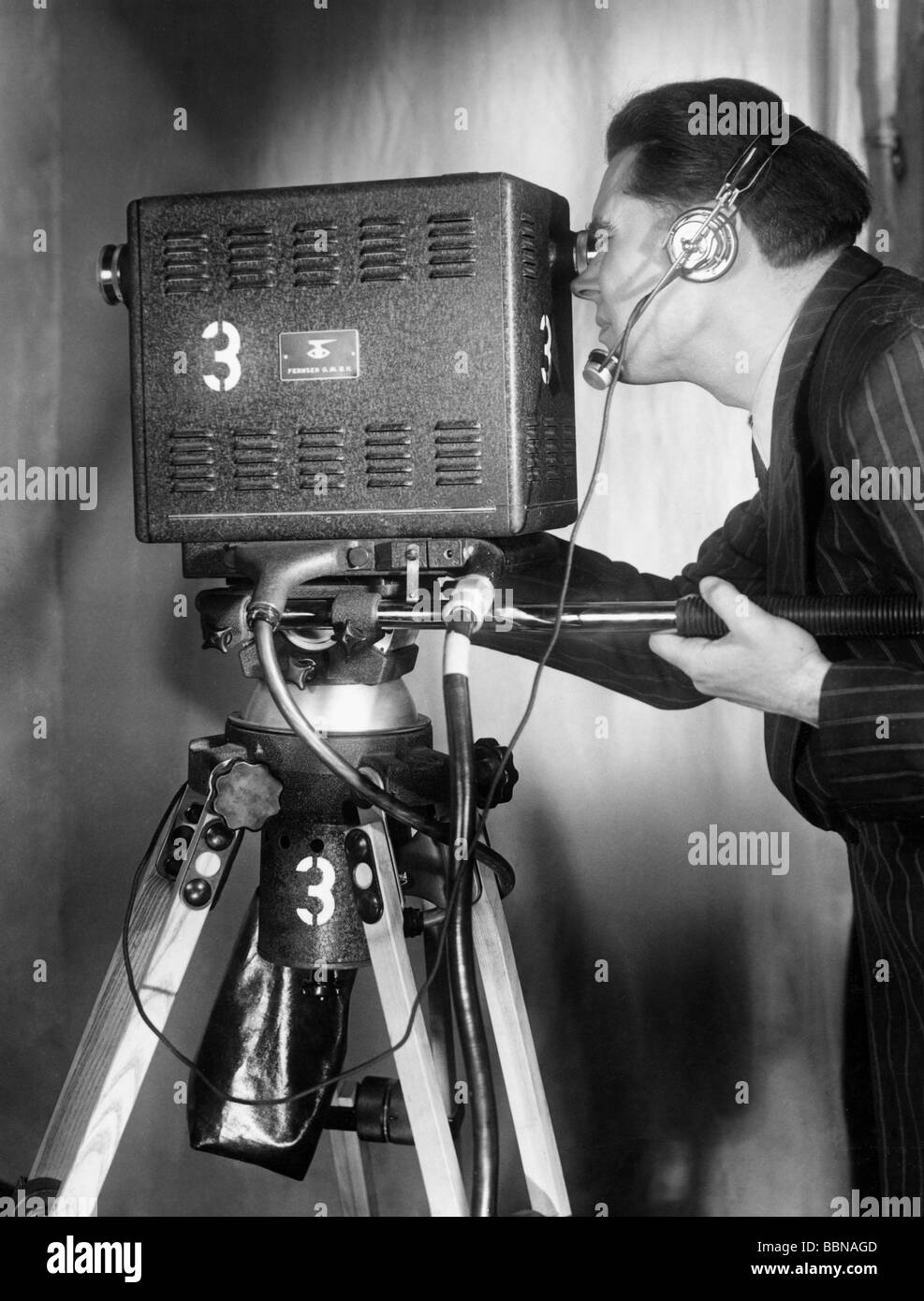 Broadcast, a televisão, a Technics, filme de câmera Fernseh Gmbh, Darmstadt, Nordwestdeutscher Rundfunk Imagens de Stock