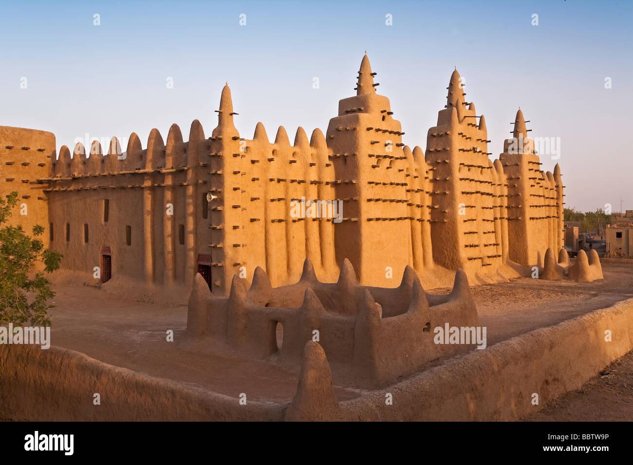 Grande Mesquita de Djenne, Djenne, Mopti Região, Níger Delta terrestre, Mali, África Ocidental Imagens de Stock
