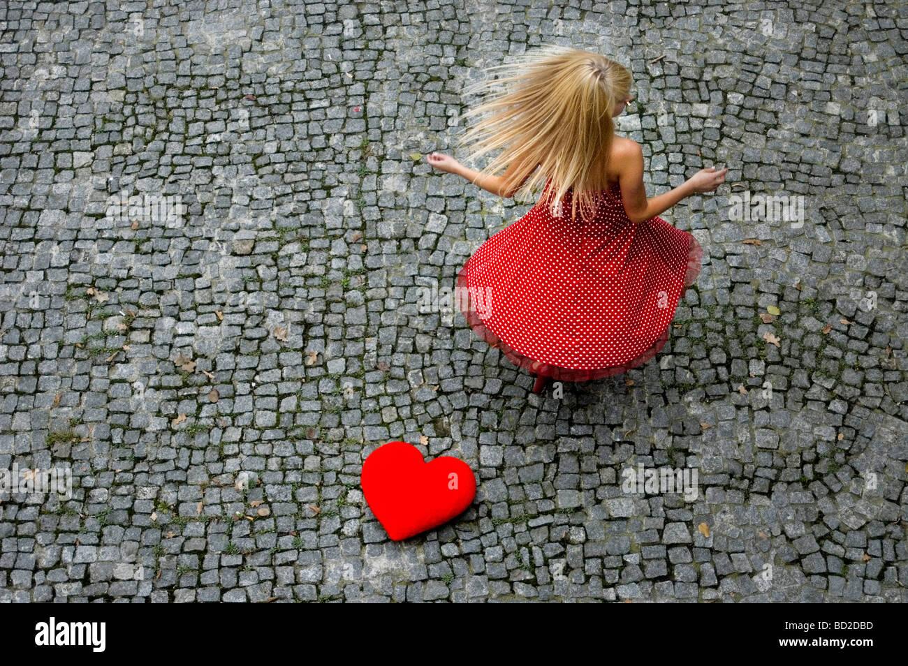 À espera de amor Imagens de Stock