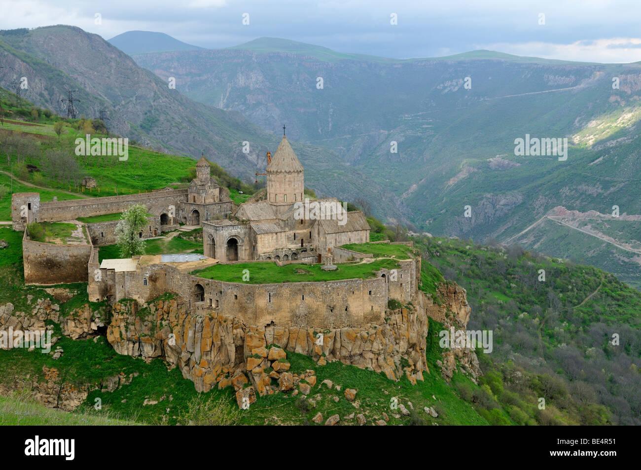 Mosteiro Tatev perto Goris, Arménia, Ásia Imagens de Stock