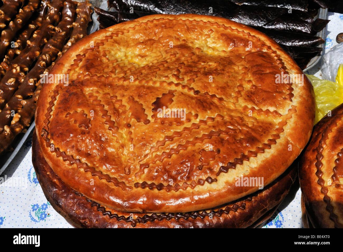 Tradicional bolo de Páscoa arménio, Arménia, Ásia Imagens de Stock