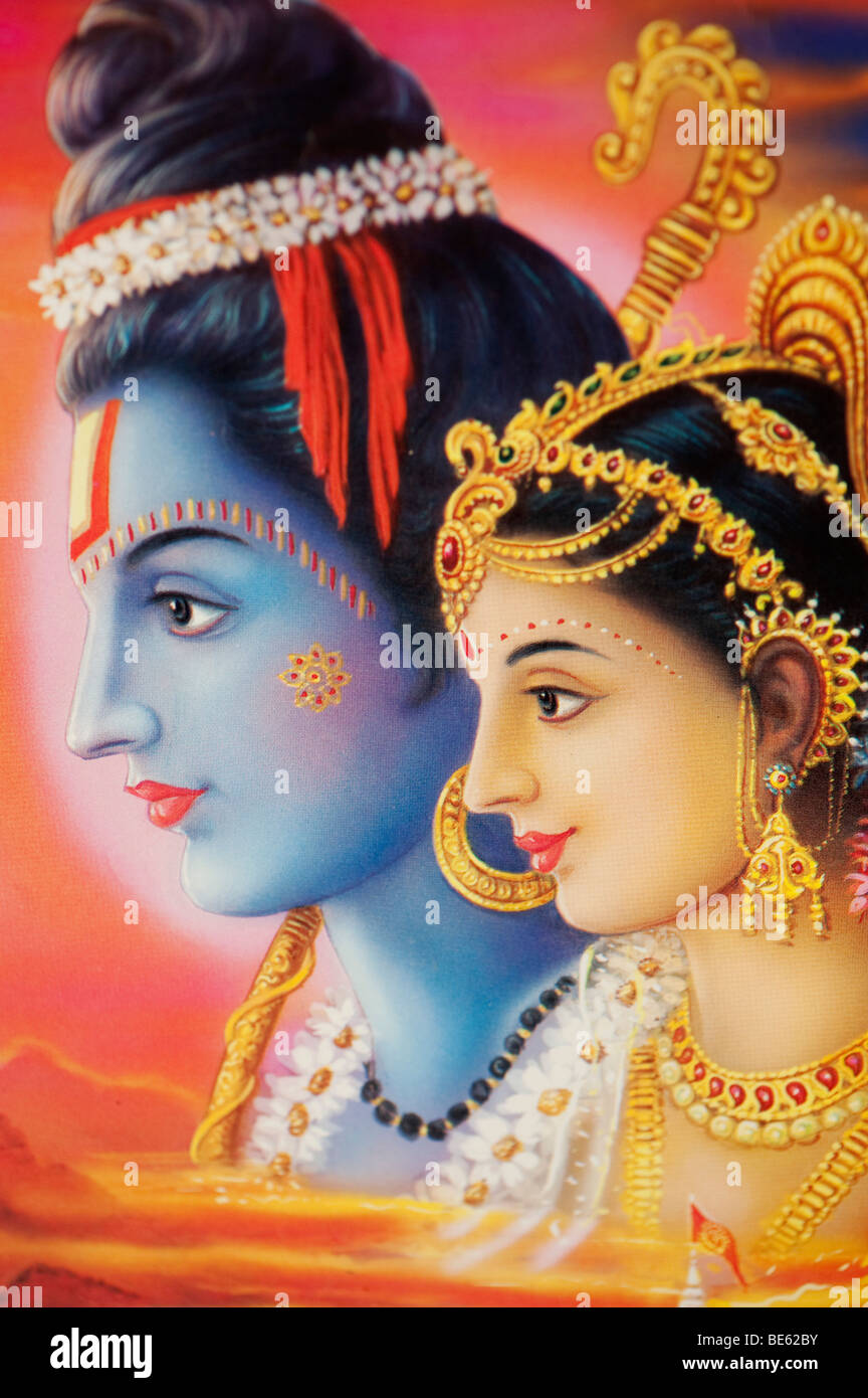 Lord India Stock Rama An And Alamy - Depicted Hindu Indian Photo On 25949167 Poster Sita God