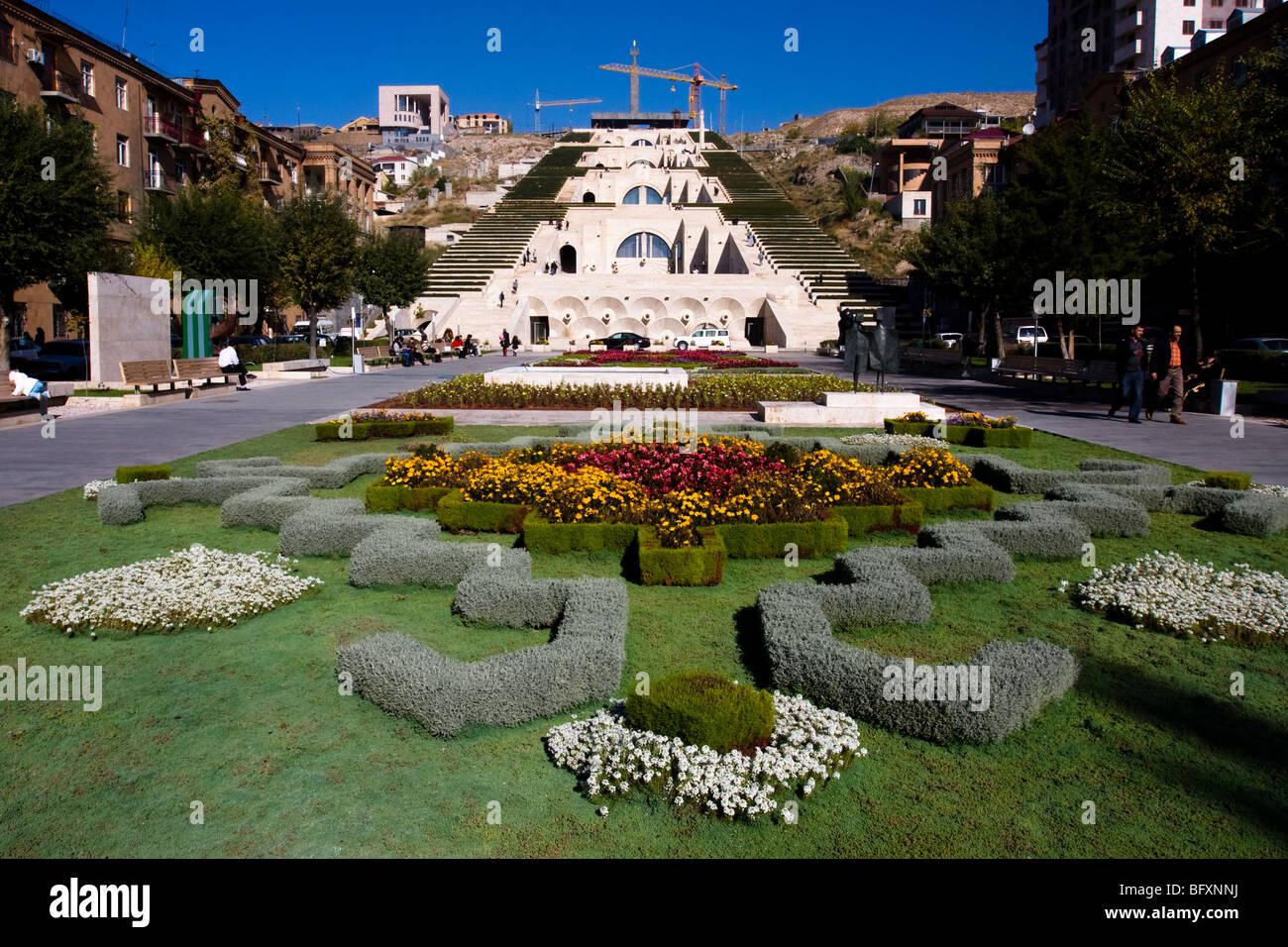 Monumento em cascata, Yerevan, Arménia Imagens de Stock