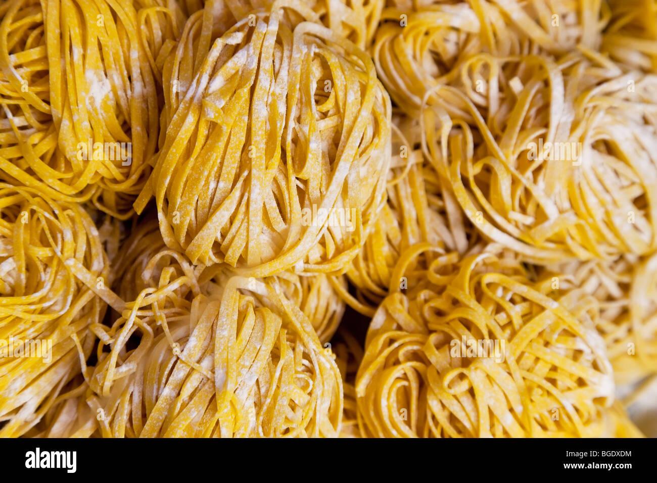 Massas linguine, Bolonha, Emilia Romagna, Itália Imagens de Stock