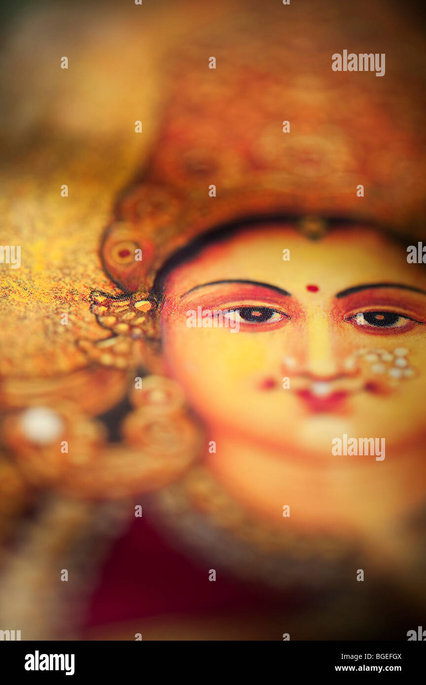 Deusa Hindu Lakshmi. Sagrada Índia Imagens de Stock
