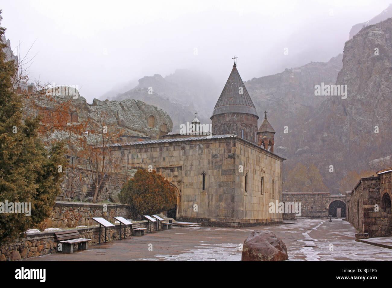 Arménia, o Mosteiro de Geghard Imagens de Stock