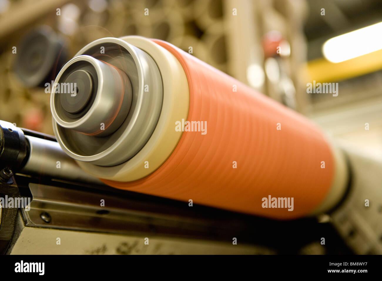 Departamento de fabricação de têxteis compostos recicláveis de fábrica, máquina de Imagens de Stock