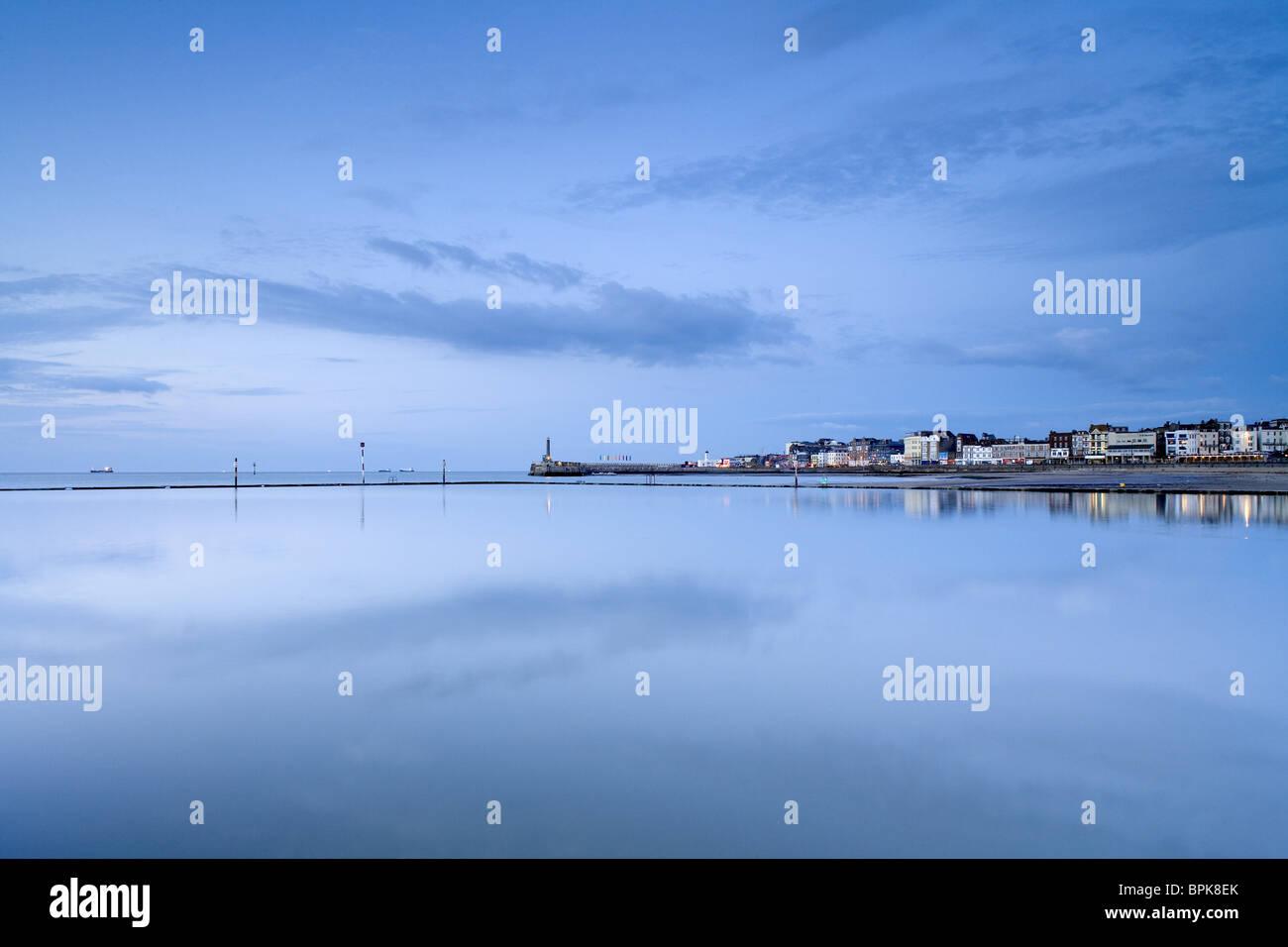 Cidade costeira de Margate, Kent, Inglaterra, Grã-Bretanha, Europa Imagens de Stock