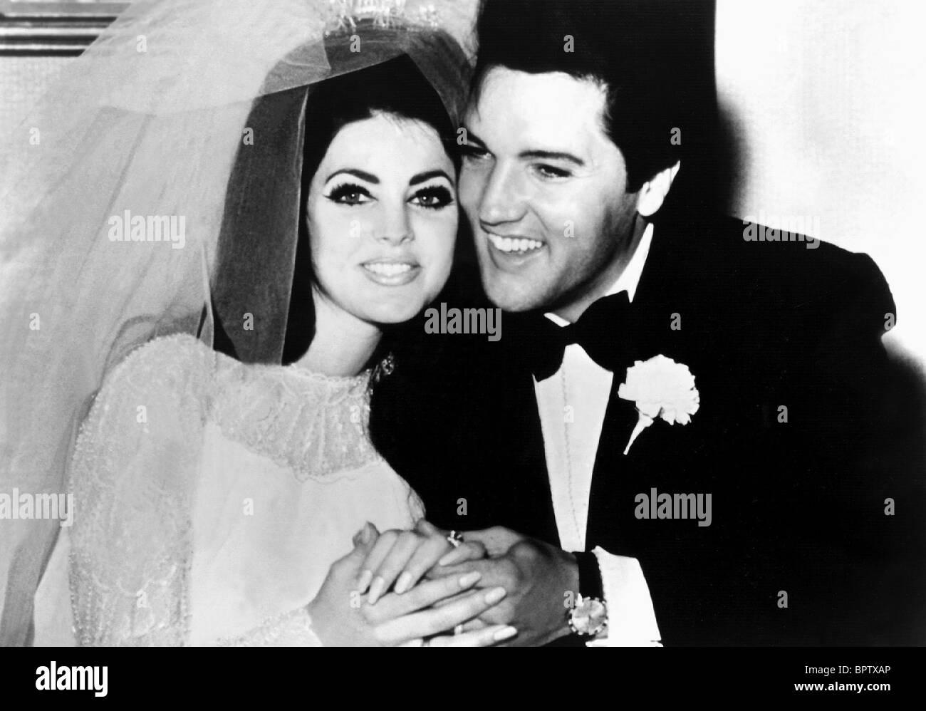 PRICILLA PRESLEY & Elvis Presley esposa e marido (1967) Imagens de Stock