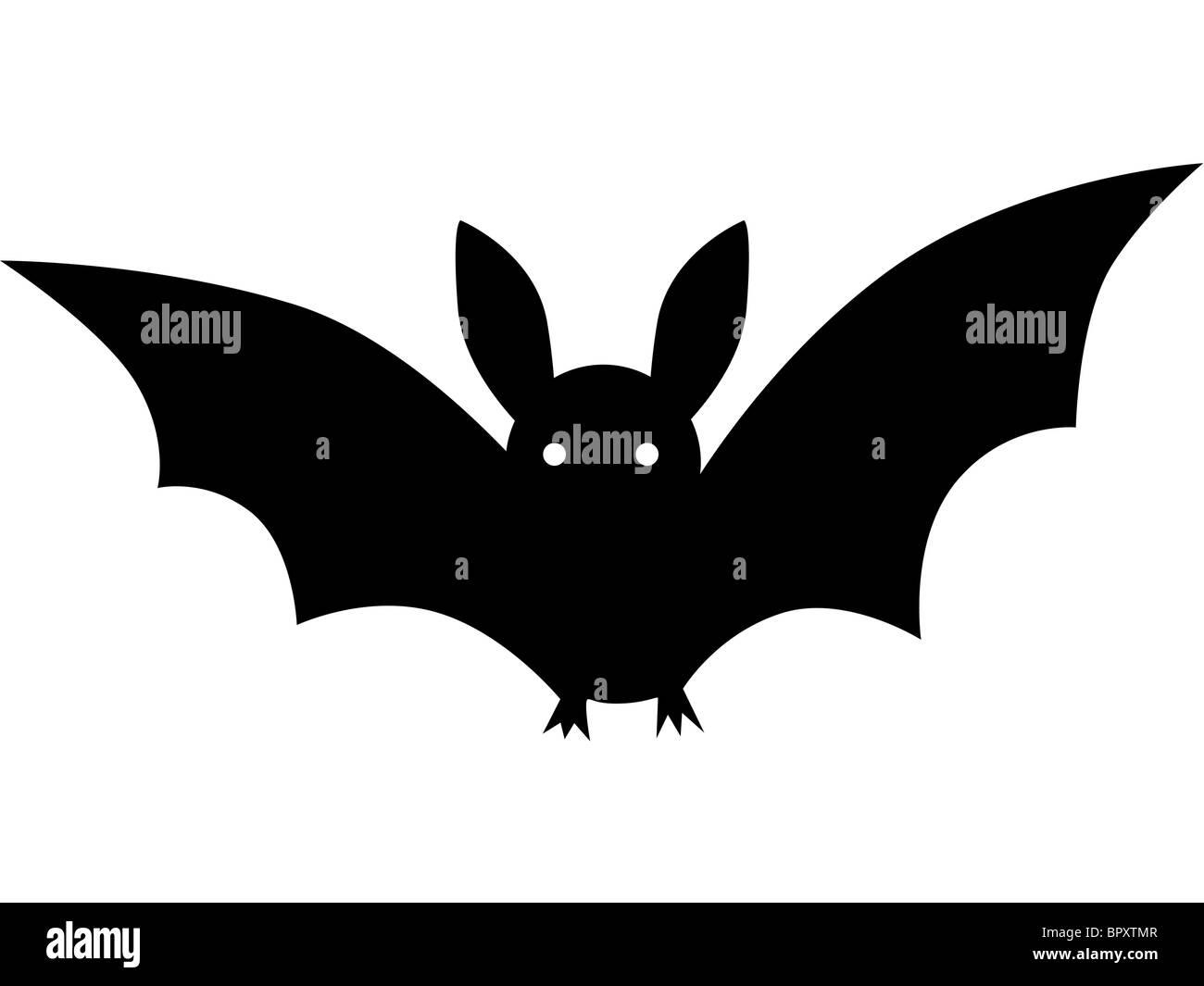 desenho a preto e branco de um morcego foto imagem de stock