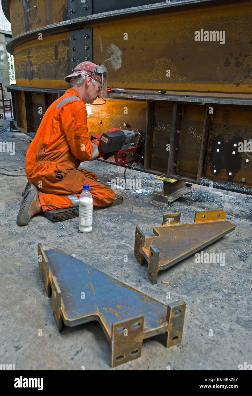 Fabricação de aço, Carrickfergus, da Irlanda do Norte. Imagens de Stock