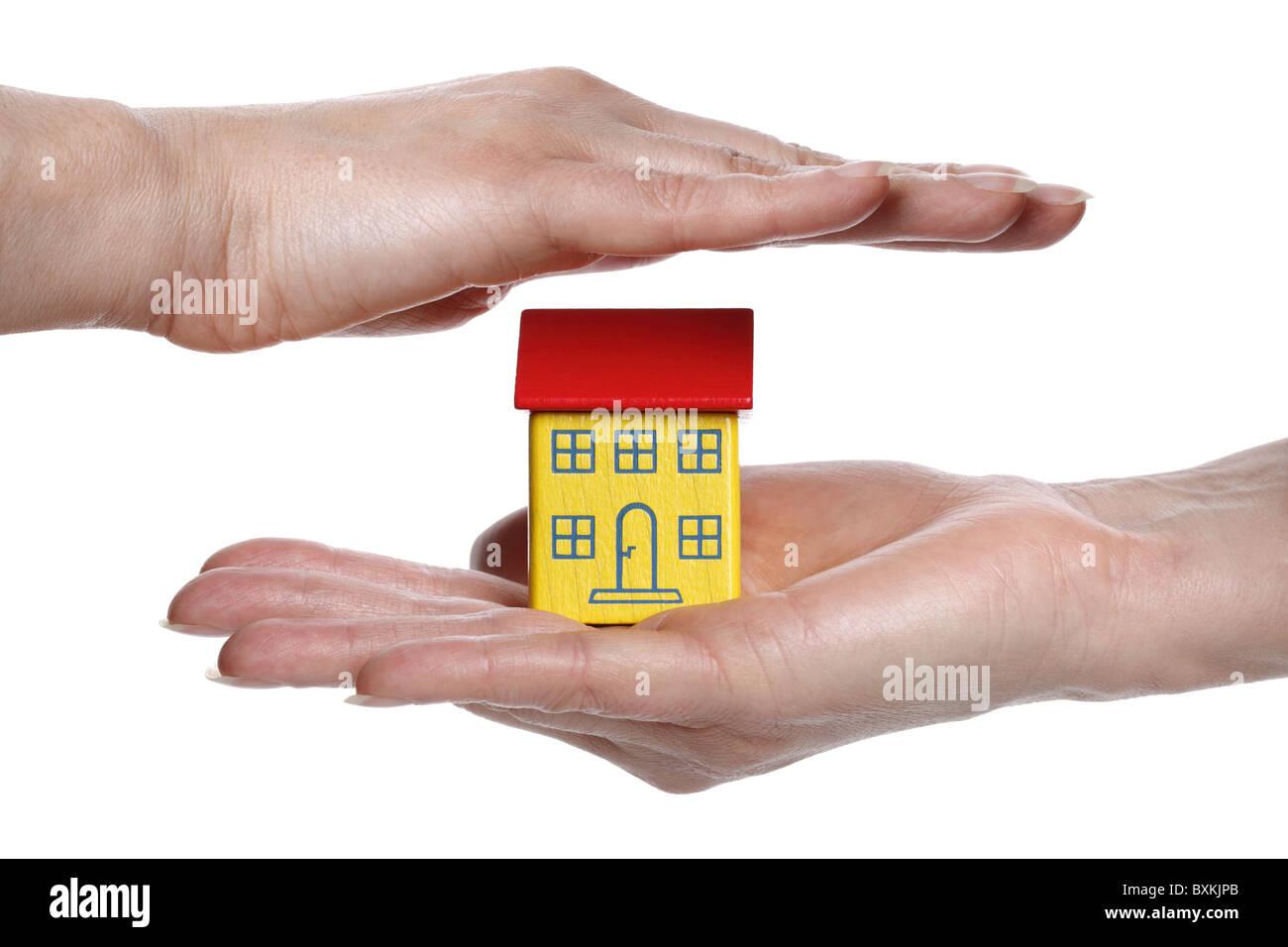 Proteger sua casa Imagens de Stock